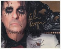 3f0954 ALICE COOPER signed color 8x10 REPRO still 2000s creepy portrait of the rock 'n' roll legend!