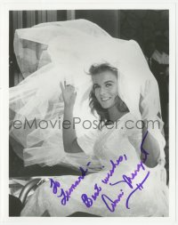 3f0958 ANN-MARGRET signed 8x10 REPRO still 1980s great seated close up in bridal gown!