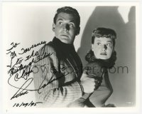 3f0955 ANN ROBINSON signed 8x10 REPRO still 1995 scared c/u with Gene Barry in War of the Worlds!