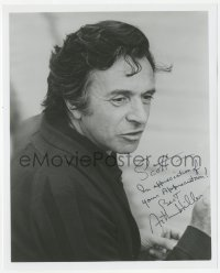 3f0961 ARTHUR HILLER signed 8x10 REPRO still 1980s close up of the director working on movie set!