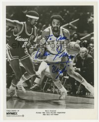 3f0762 WALT FRAZIER signed 8x10 publicity still 1980s playing basketball for the New York Knicks!