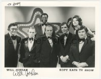 3f0765 WILL JORDAN signed 8x10 publicity still 1980s with his co-stars from the Kopy Kats TV Show!