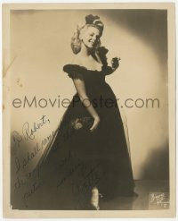 3f0769 YVETTE signed 8x10 still 1950s full-length sexy nightclub singer by Bruno of Hollywood!