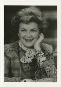 3f0888 BARBARA HALE signed 5x7 photo 1980s smiling close up later in her career!