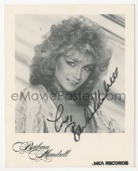 3f0889 BARBARA MANDRELL signed 4x5 publicity photo 1990s the country music singer at MCA Records!