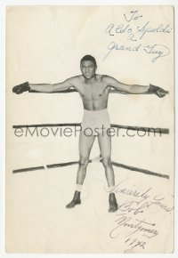 3f0894 BOB MONTGOMERY signed 5x7 photo 1942 NYSAC lightweight boxing champ, a black boxer!