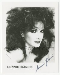 3f0898 CONNIE FRANCIS signed 4x5 photo 1980s great glamour portrait of the pop singer!
