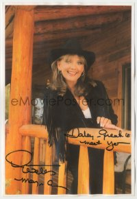 3f0884 DAWN WELLS color signed 8x11 photo 1990s she was the wholesome Mary Ann from Gilligan's Island