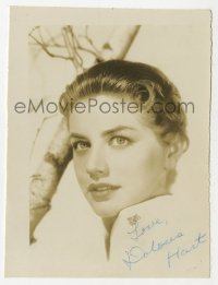 3f0899 DOLORES HART signed 3x4 photo 1950s super close up of beautiful actress who became a nun!