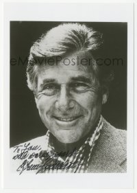 3f0904 EFREM ZIMBALIST, JR signed 5x7 photo 1980s head & shoulders portrait later in his career!