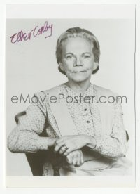 3f0905 ELLEN CORBY signed 4x5 photo 1980s great seated portrait of Grandma from The Waltons!