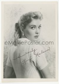 3f0920 LORI NELSON signed 5x7 photo 1950s the sexy blonde actress looking over her shoulder!