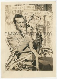 3f0909 HARRY JAMES signed 5x7 photo 1940s also includes photo with His Chesterfield Music Makers!