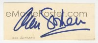 3f0771 ANN SOTHERN signed 2x4 index card 1940s includes a vintage 1950s portrait by John Engstead!