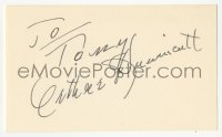 3f0774 ARTHUR HUNNICUTT signed 3x5 index card 1970s it can be framed & displayed with a repro still!
