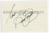 3f0781 BEVERLY GARLAND signed 4x6 index card 1980s it can be framed & displayed with a repro still!