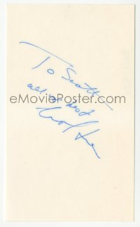 3f0785 CAROL KANE signed 3x5 index card 1980s it can be framed & displayed with a repro still!