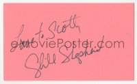 3f0790 CYBILL SHEPHERD signed 3x5 index card 1980s it can be framed & displayed with a repro still!