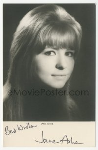 3f0910 JANE ASHER signed 4x6 photo 1970s great portrait of Paul McCartney's former fiancee!