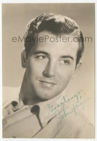 3f0913 JOHN PAYNE deluxe signed 5x7 photo 1950s head & shoulders portrait of the leading man!