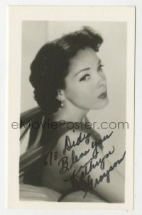 3f0915 KATHRYN GRAYSON signed 3x4 photo 1950s great close portrait of the pretty actress!