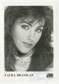 3f0916 LAURA BRANIGAN signed 5x7 music photo 1980s head & shoulders portrait of the pretty actress!