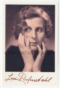 3f0917 LENI RIEFENSTAHL signed 4x6 photo 1980s great portrait of the famous German director!