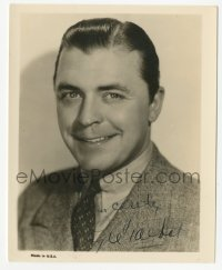 3f0921 LYLE TALBOT signed 4x5 photo 1930s head & shoulders portrait of the Warner Bros leading man!