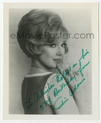 3f0903 EDIE ADAMS signed 4x5 photo 1970 sexy close portrait looking over her shoulder!