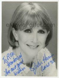 3f0914 JULIE HARRIS signed 5x6 photo 1985 head & shoulders portrait later in her career!