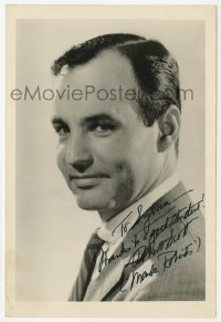 3f0924 MARK ROBERTS signed 5x8 photo 1950s head & shoulders portrait of the Black Arrow actor!