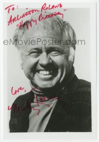 3f0928 MICKEY ROONEY signed 5x7 photo 1970s head & shoulders portrait later in his career!