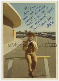 3f0930 MITCH VOGEL signed 5x7 color photo 1960s portrait of the child actor with long inscription!