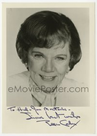 3f0906 ELLEN CORBY signed 5x7 photo 1960s smiling head & shoulders portrait late in her career!