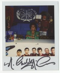3f0931 NICHELLE NICHOLS signed 4x4 Polaroid photo 1980s she's smiling at a Star Trek convention!