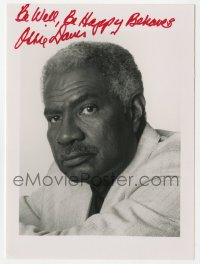 3f0933 OSSIE DAVIS signed 5x7 photo 1990s portrait of the African American star later in his career!