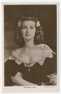 3f0935 PATRICIA ROC English signed 4x6 photo 1940s the sexy English actress in low-cut dress!