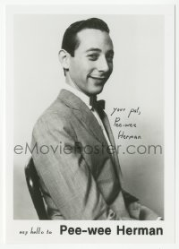 3f0936 PAUL REUBENS signed 5x7 photo 1980s say hello to his alter ego Pee-wee Herman!