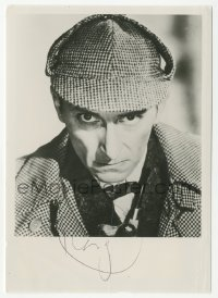 3f0938 PETER CUSHING signed 4x6 photo 1959 as Sherlock Holmes in The Hound of the Baskervilles!