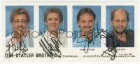 3f0946 STATLER BROTHERS color signed 4x9 photo 2000s by Don & Harold Reid, Phil Balsley, Jimmy Fortune!