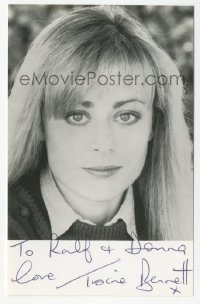 3f0947 TRACIE BENNETT signed 4x6 photo 1990s head & shoulders portrait of the pretty English actress!