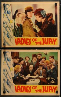 3g0725 LADIES OF THE JURY 2 LCs 1932 great images of Edna May Oliver, Roscoe Ates & radio's Ken Murray!