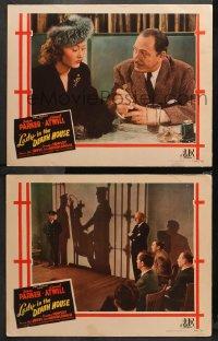 3g0726 LADY IN THE DEATH HOUSE 2 LCs 1944 Jean Parker, Lionel Atwill, shadow of the electric chair!