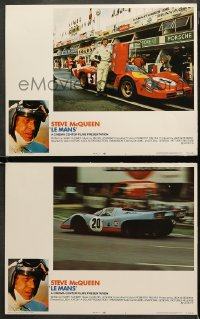 3g0728 LE MANS 2 LCs 1971 great images of race car driver Steve McQueen & car on track!