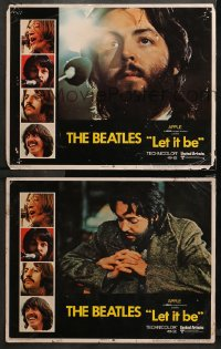 3g0730 LET IT BE 2 LCs 1970 The Beatles, Paul McCartney at microphone and w/hands clasped!