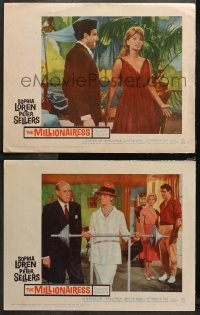 3g0740 MILLIONAIRESS 2 LCs 1960 beautiful Sophia Loren, richest girl in the world, Peter Sellers!