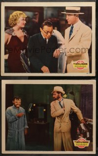 3g0742 MR MOTO'S LAST WARNING 2 LCs 1939 Asian detective Peter Lorre, Field, Cortez, Carradine, rare!