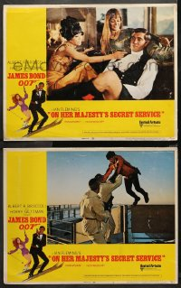 3g0746 ON HER MAJESTY'S SECRET SERVICE 2 LCs 1969 George Lazenby's only appearance as James Bond!