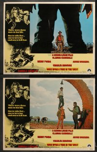 3g0748 ONCE UPON A TIME IN THE WEST 2 LCs 1969 Sergio Leone, Henry Fonda, w/hanging flashback scene!