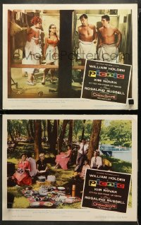 3g0750 PICNIC 2 LCs 1956 great images of William Holden, Cliff Robertson, Betty Field, Strasberg!